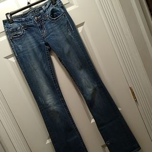 Miss Me jeans 27 X 37. JE1045BZ, boot.